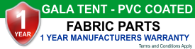 Gala Tent PL Fabric Warranty