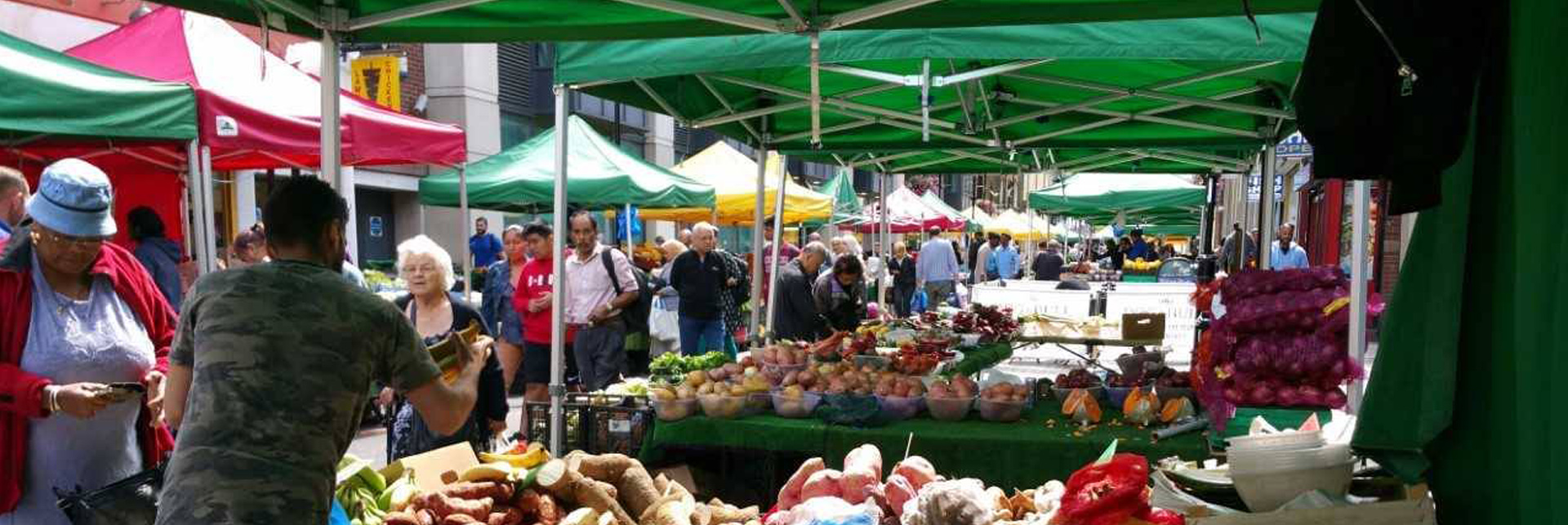 pop-up market stall