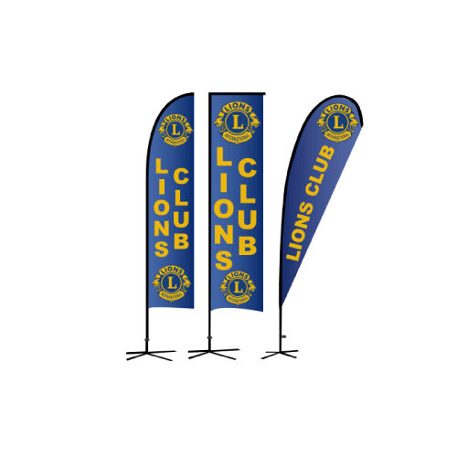 lions club banner flags