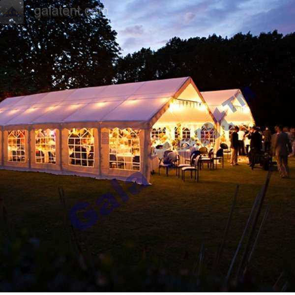 Decorated wedding marquees