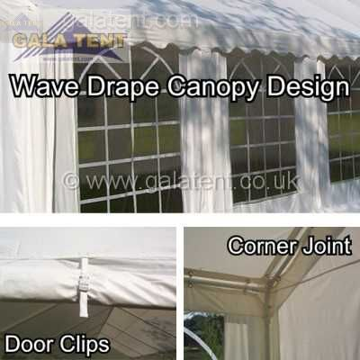 Enlarged Image of 6m x 8m Multi-Span Gala Tent (PVC Coated)