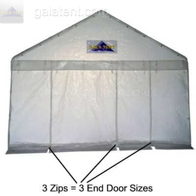 Enlarged Image of 6m (wide) x 4m Multi-Span Gala Tent (PE)