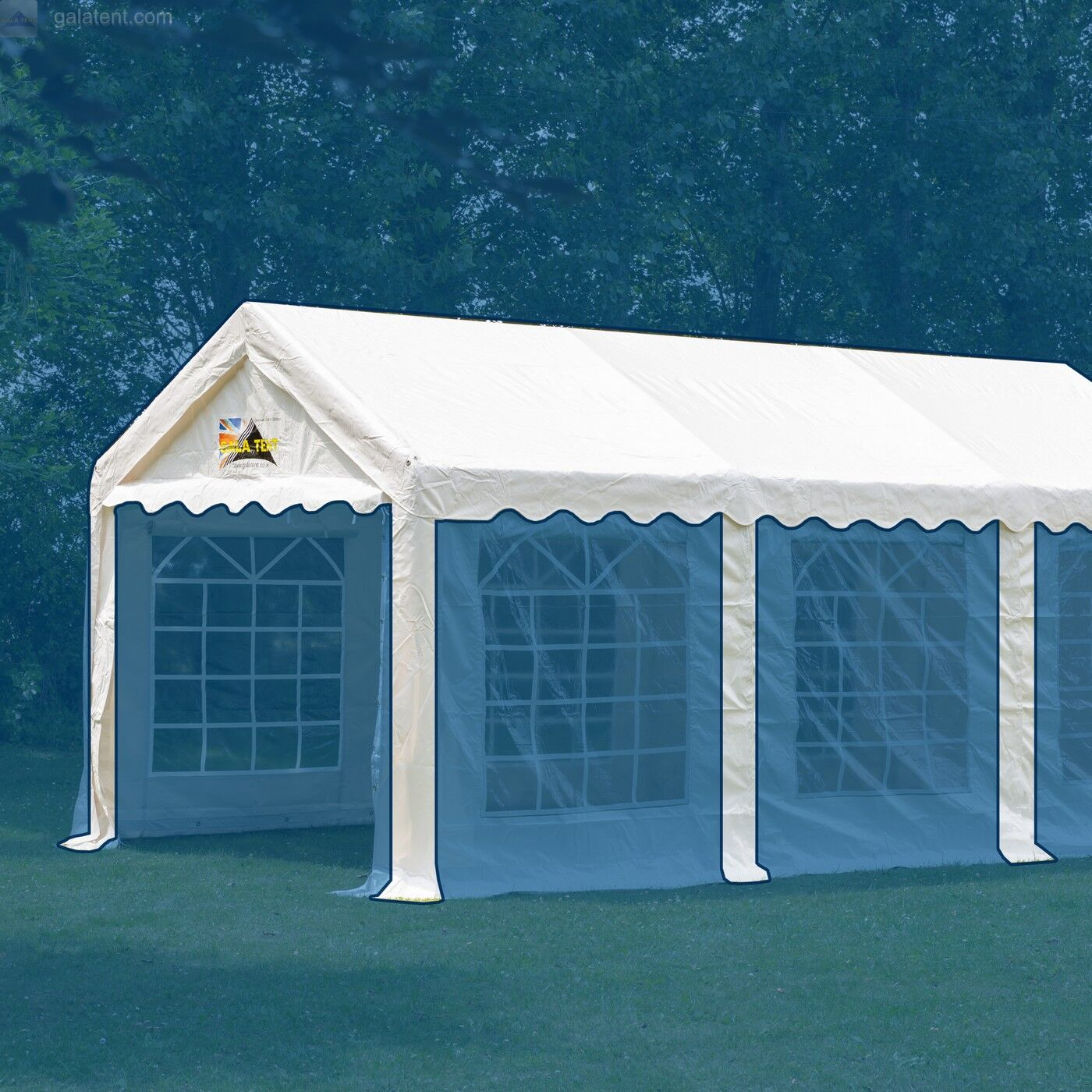 Buy 4m X 4m Party Tent Marquee Roof Canopy Elite Pvc