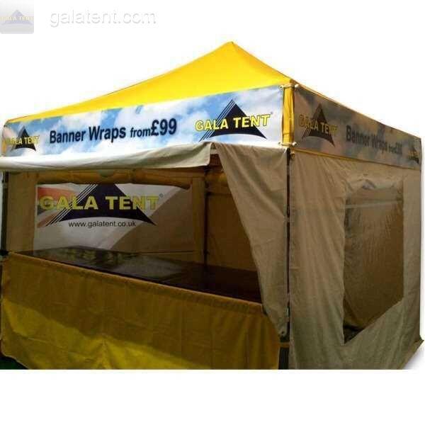 Buy 3m x 6m gazebo printed banner wrap full set pvc for Banner wrap