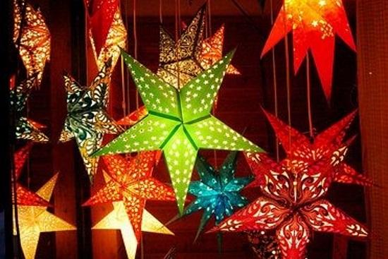 Marquee star decoration