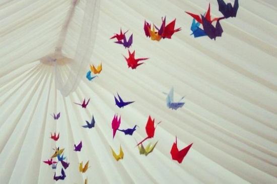 Marquee origami decorations
