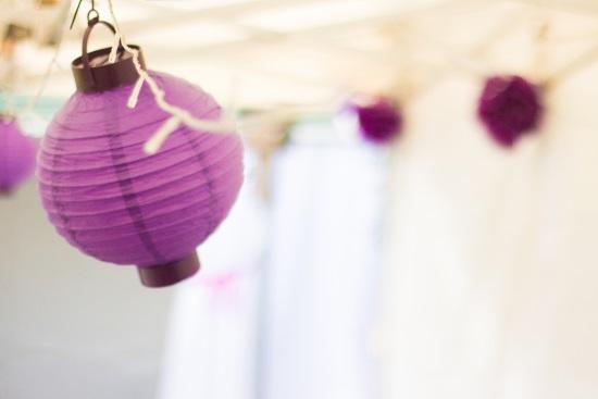 Marquee globe lantern decorations