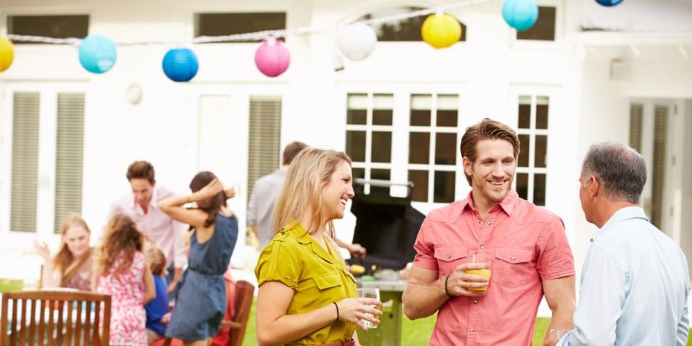 Marquee garden party
