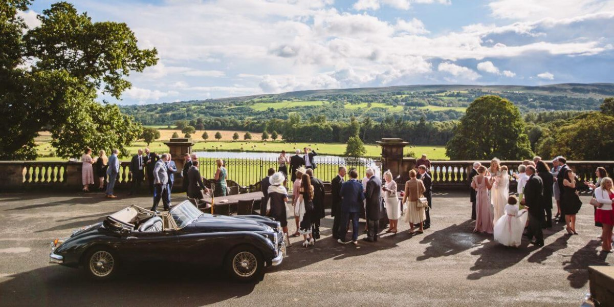 Wedding reception at stately home
