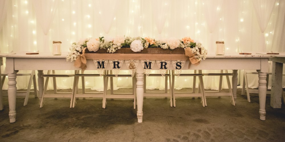 Bride and Groom wedding decoration